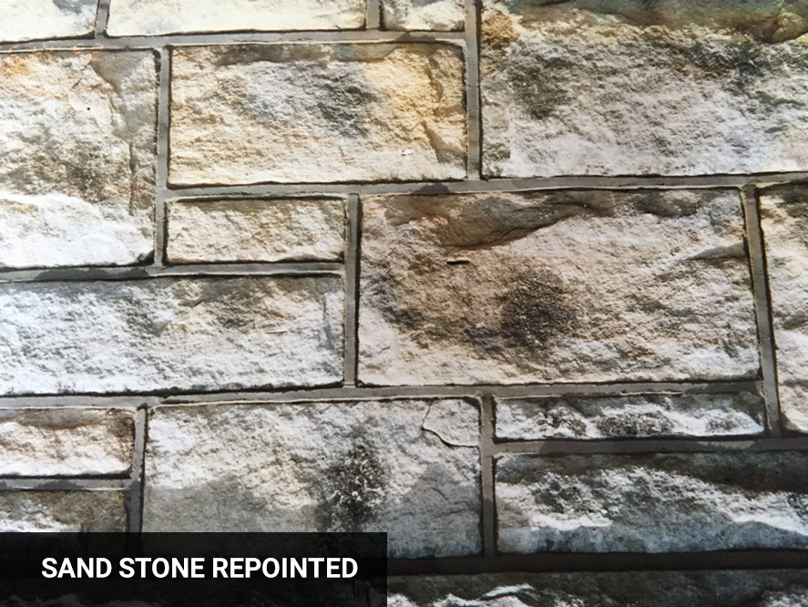 Sand stone repointed